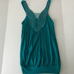 Nwt Charlotte Russe Teal Mesh Top